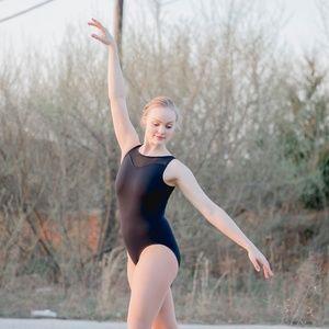 Women Ballet Dance Leotard Sweetheart Mesh Neck